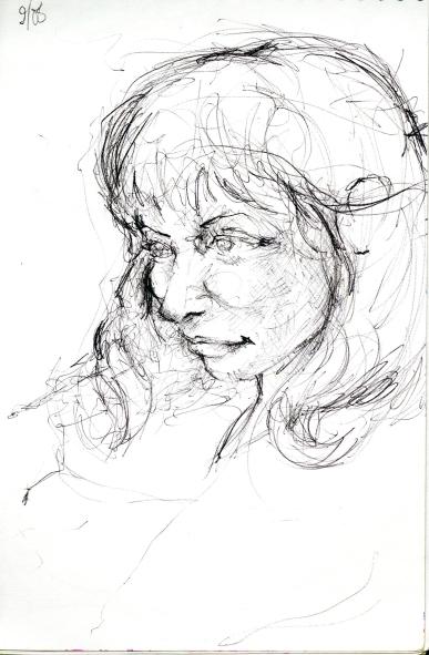 2008 - <3 Meghan flutter sketch - Pen