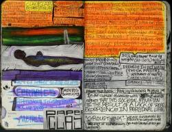 2010 - inner life #1 - moleskin - paintmarker, crayola marker, sharpie