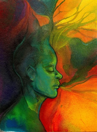 2010 - Mind Breath - Watercolor, Spraypaint, Paintmarker