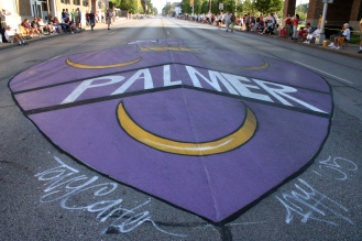 Bix Mural for Palmer College - ground pic