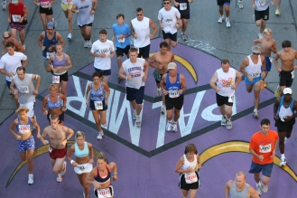 Bix mural for Palmer College - with runners