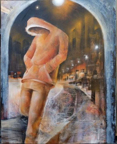 Drift Away - Mixed Media on Canvas (2014) - At Blick Iowa City