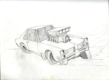 (Sketchbook 2005-7) - Blazin Engines - Graphite