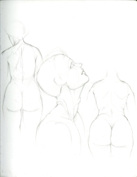 (Sketchbook 2005-7) - Muscles - Study of BiG BoOtiEs - Graphite