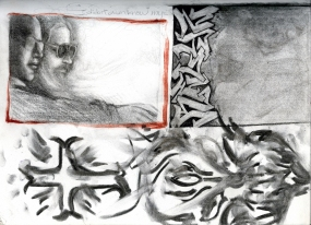 (Sketchbook 2005-7) - Rels (Tom Awad n Me) - Charcoal & Graphite