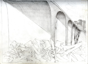 (Sketchbook 2005-7) - Relyz (Peoria IL DT) - Graphite