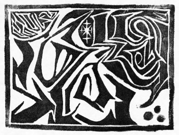 Rely (Lino Print)