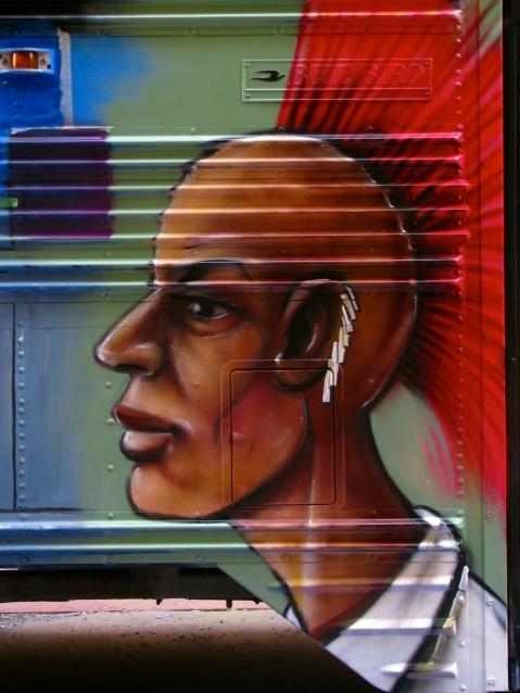 Black Hawk (Art Bus) - Spray Paint - 2011