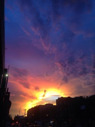 Sunset in Crown Heights, Brooklyn