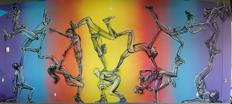 "Connections""- Facebook Mural 2 ::: – Artwork © TonyC"
