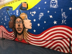 PS33 Mural with Velvet Rope